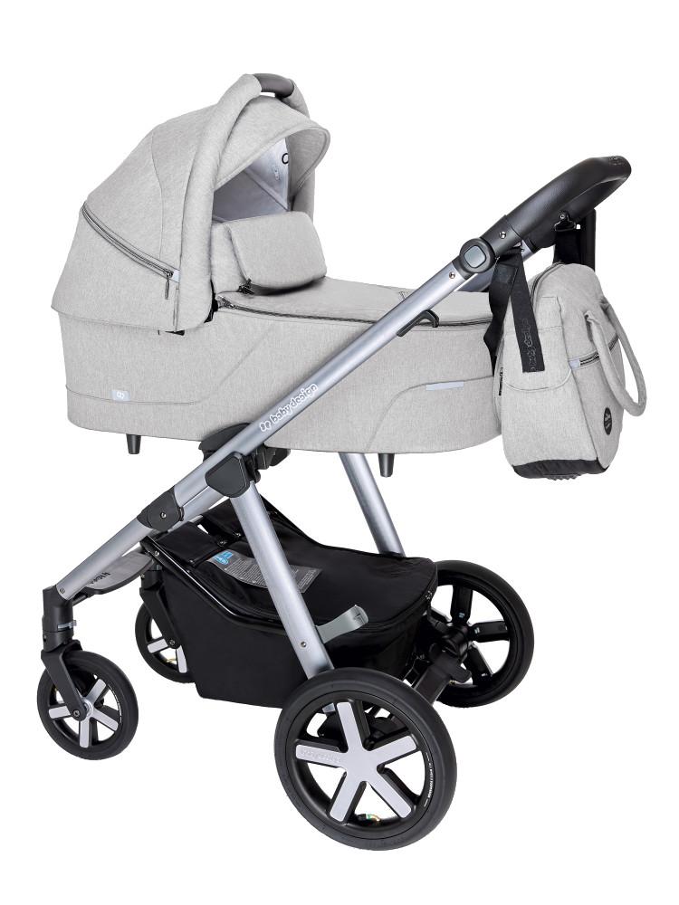 BABY DESIGN Carucior multifunctional Baby Design Husky + Winter Pack 27 Light Gray 2020