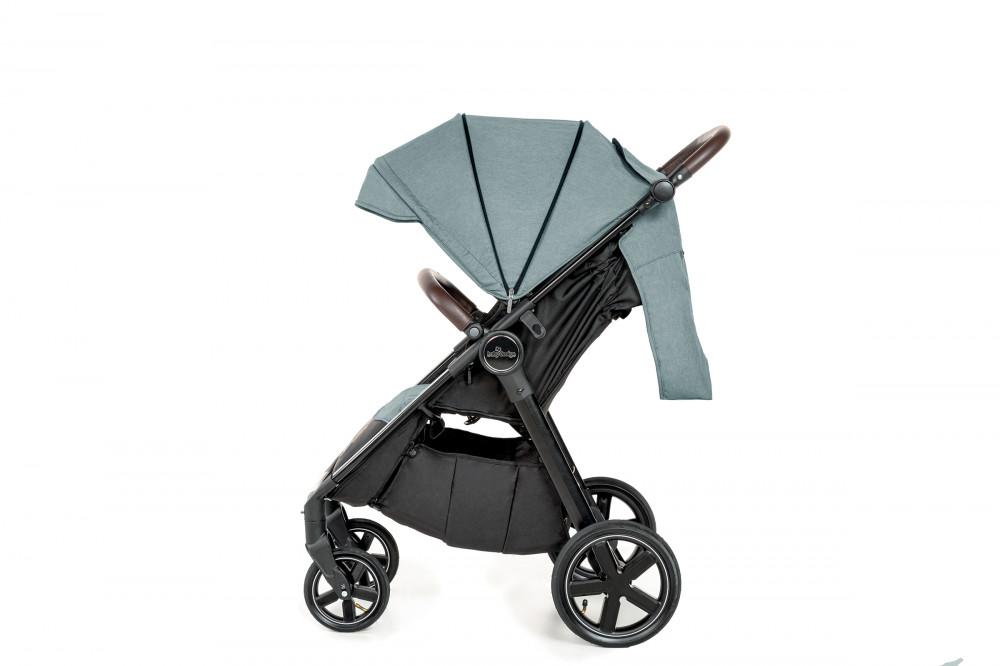 Carucior sport cu roti gonflabile Baby Design Look Air 17 Graphite 2020