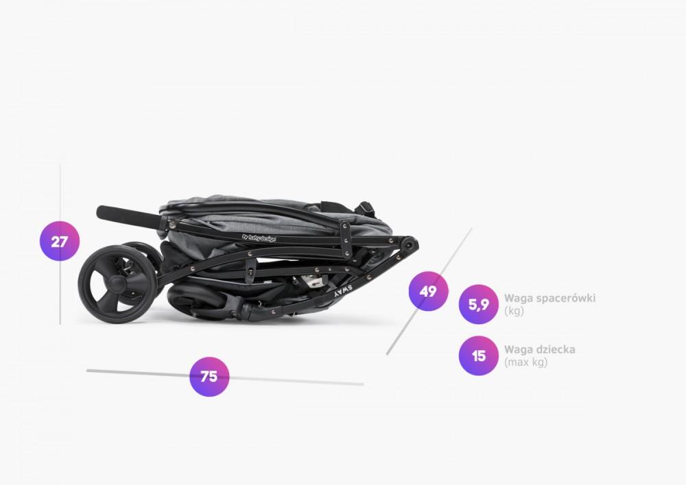 Carucior sport Baby Design Sway 27 Light Gray 2020
