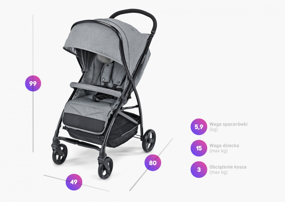 Carucior sport Baby Design Sway 27 Light Gray 2020 - 1