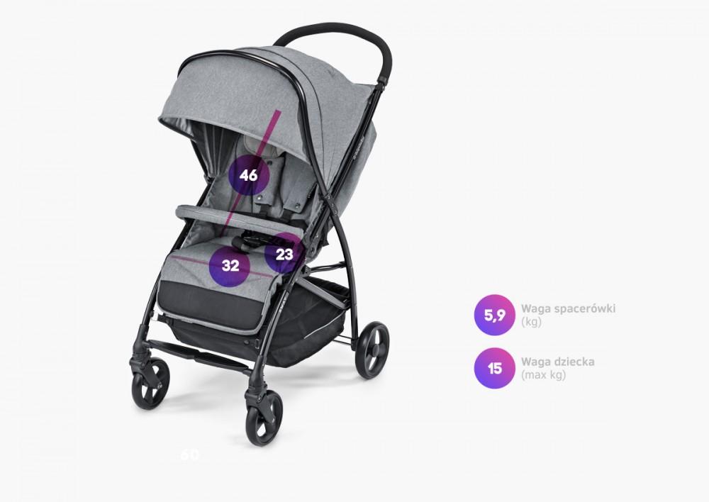 Carucior sport Baby Design Sway 27 Light Gray 2020 - 2