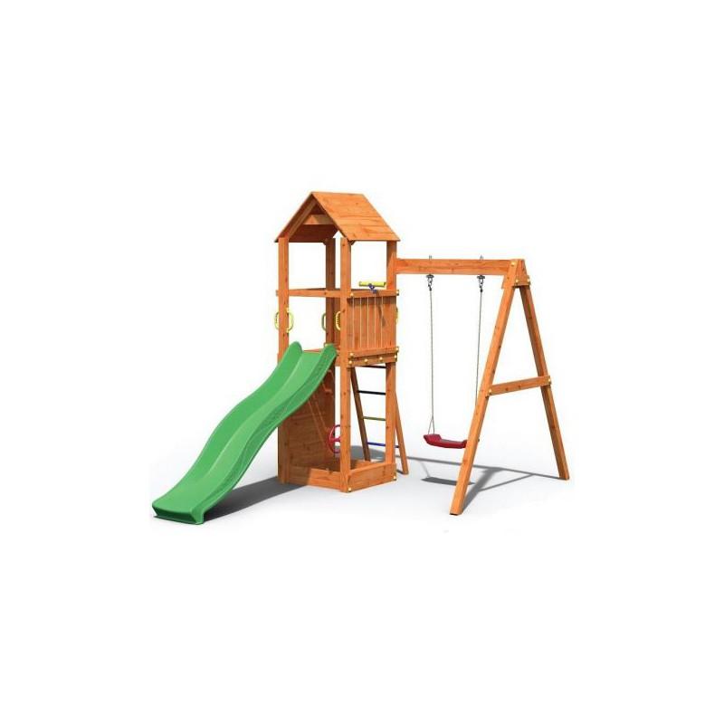 Complex de joaca din lemn Fungoo Flippi