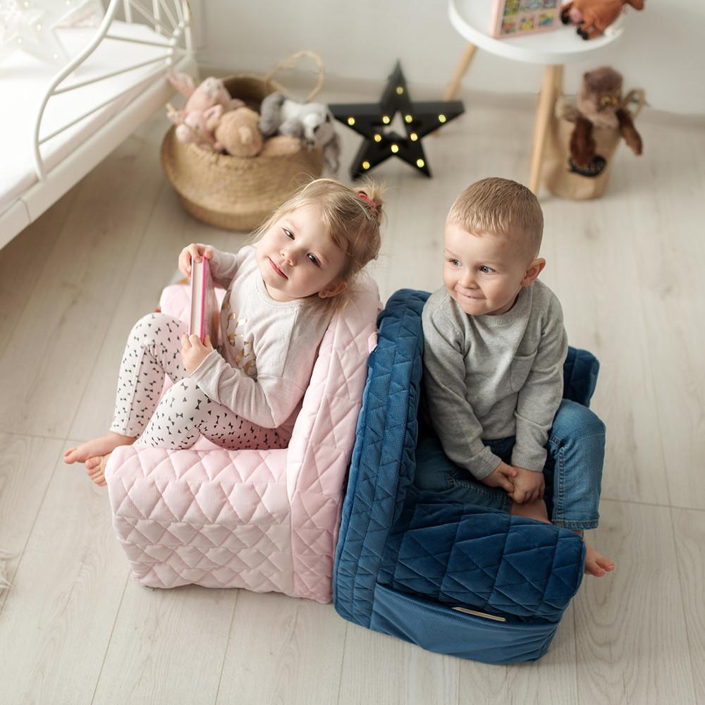 Fotoliu bebelusi Velvet Kids V101 Pink Albero Mio