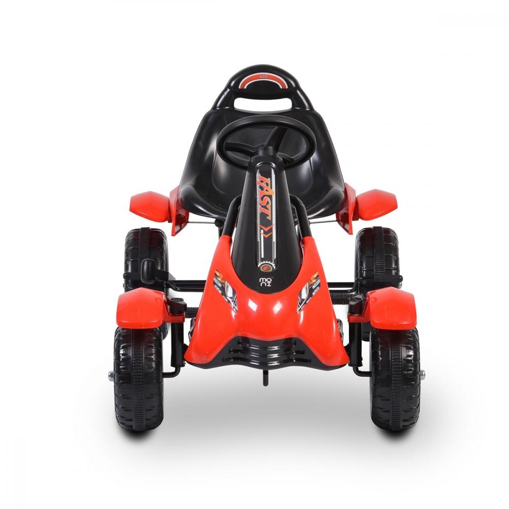 Kart cu pedale pentru copii Rally Red