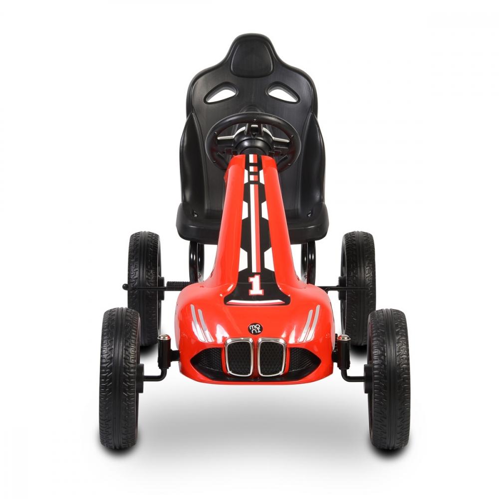 Kart cu pedale si roti din cauciuc EVA Monte Carlo Red
