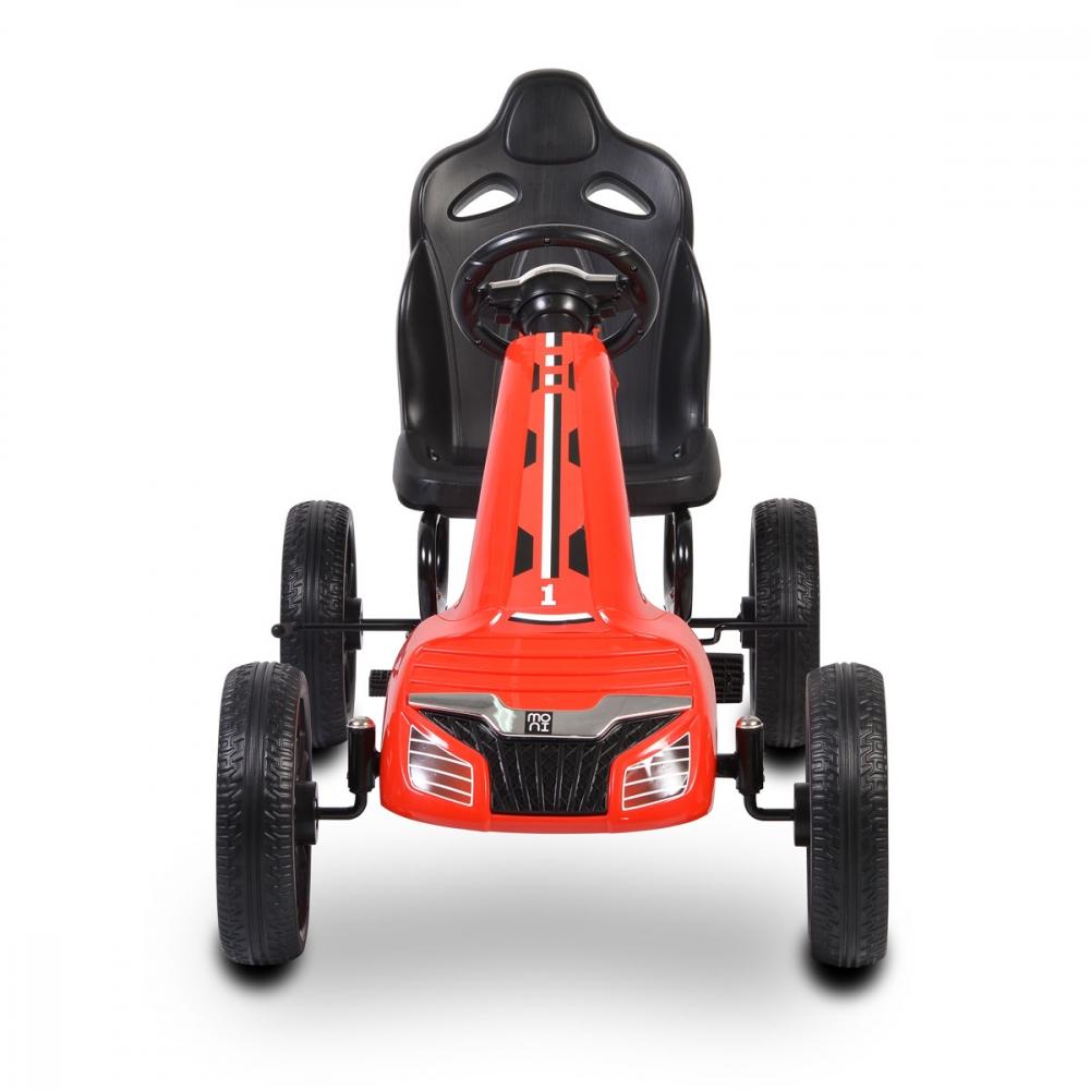 Kart cu pedale si roti din cauciuc EVA Olympus Red imagine