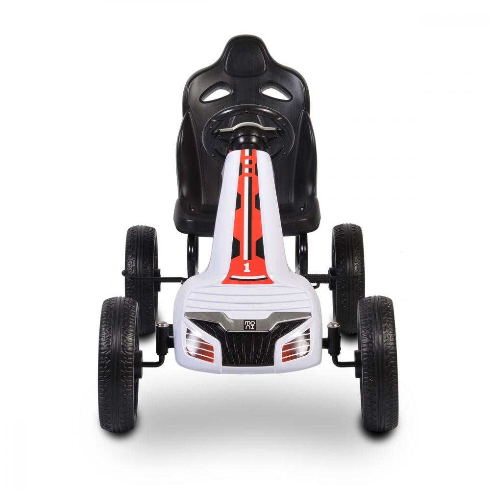 Kart cu pedale si roti din cauciuc EVA Olympus White imagine