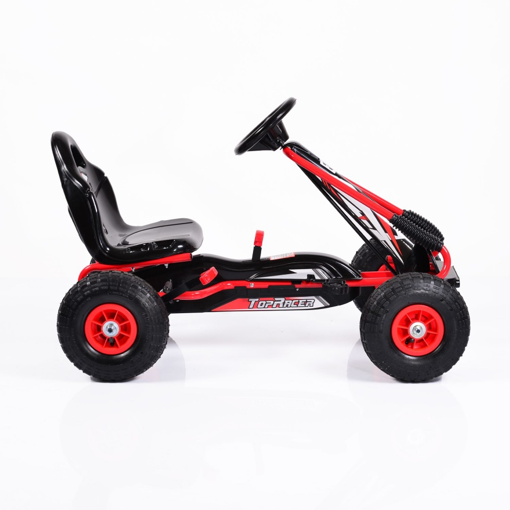Kart cu pedale si roti gonflabile Top Racer Red imagine