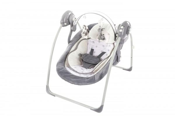 Leagan portabil cu reductie BO Jungle model stele pentru bebelusi cu arcada jucarii gri imagine