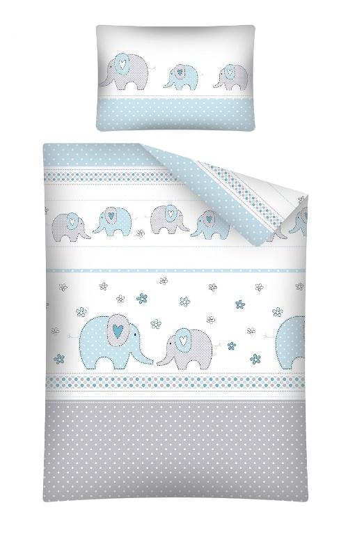 Lenjerie patut cu 7 piese Elefant albastru 068 imagine
