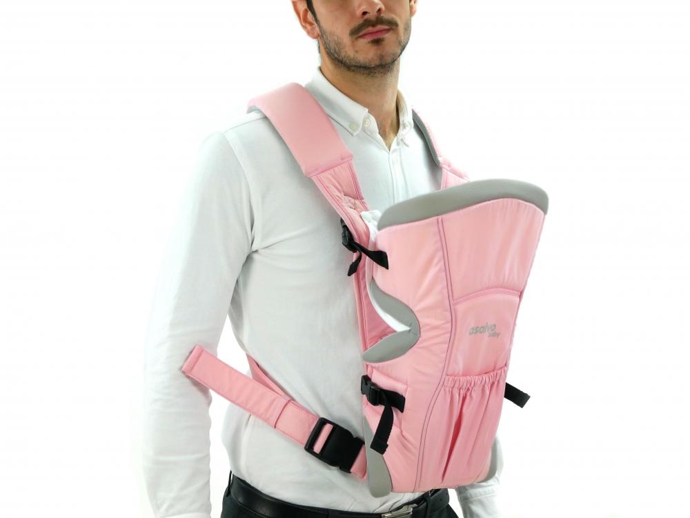 Marsupiu bidirectional Asalvo Baby Carrier Pink 2020