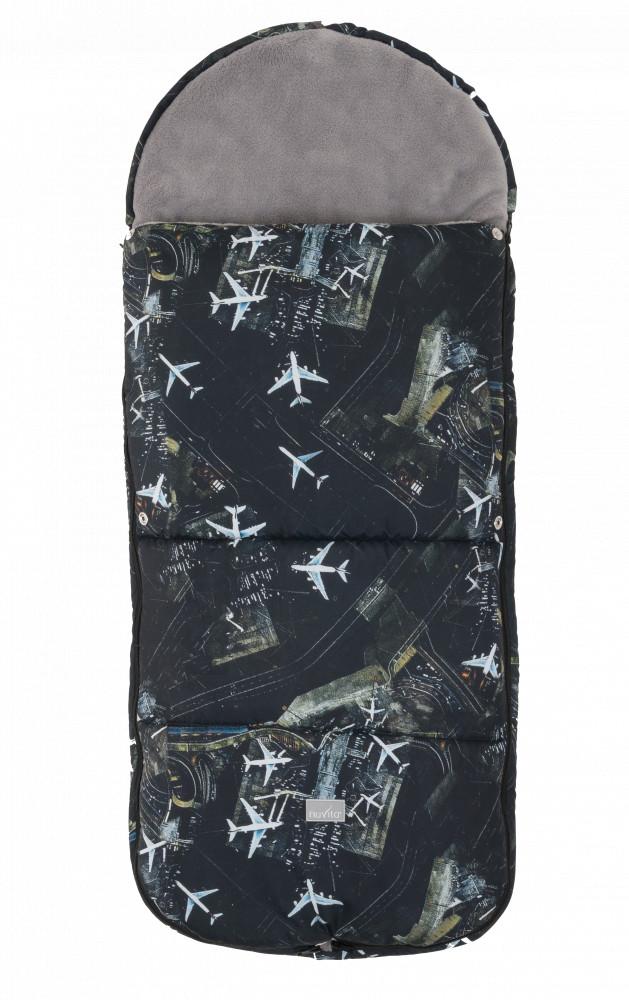 NUVITA Sac de iarna 100 cm Junior Smart Black Airplanes  Gray 9585