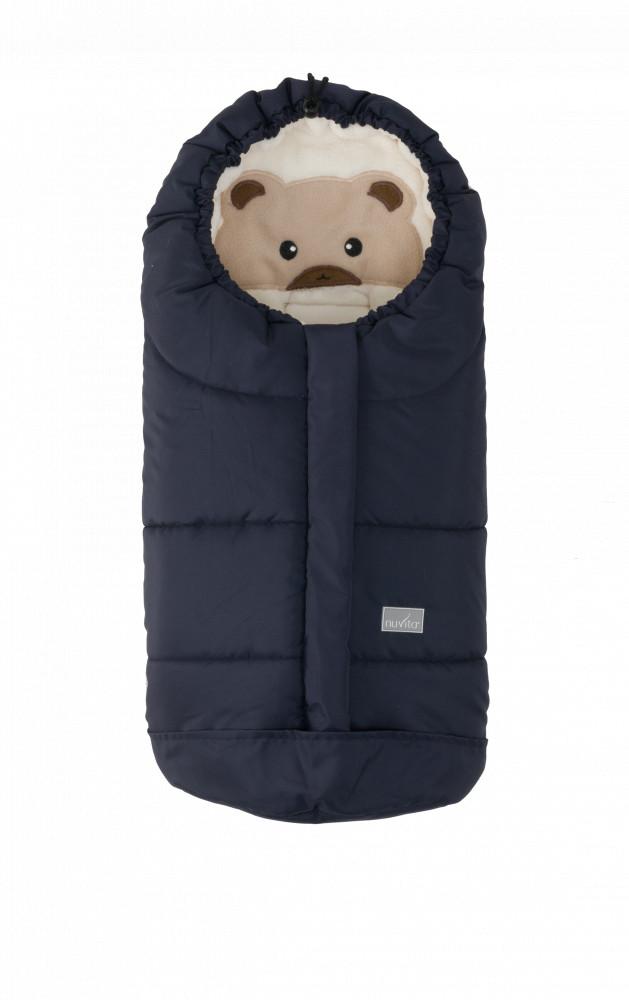 Sac de iarna 80 cm Ovetto Cuccioli Bear Melange Blue Beige 9205