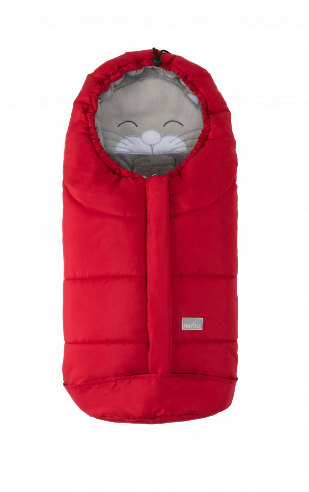 Sac de iarna 80 cm Ovetto Cuccioli Cat Red Gray 9205