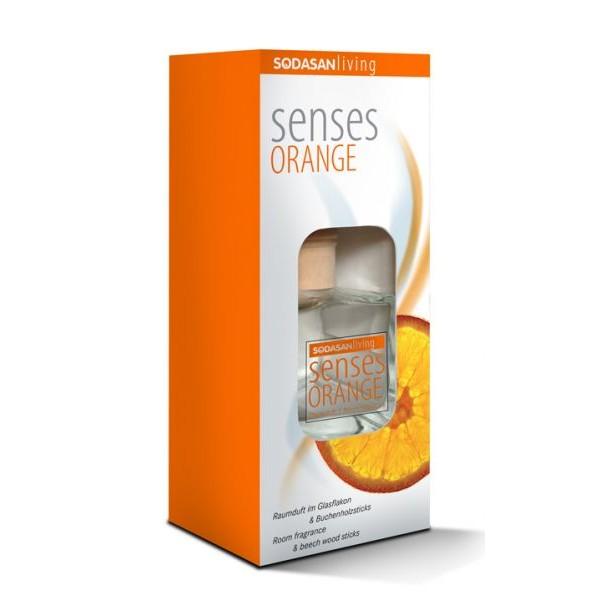 Odorizant de camera Senses portocala 200ml Sodasan