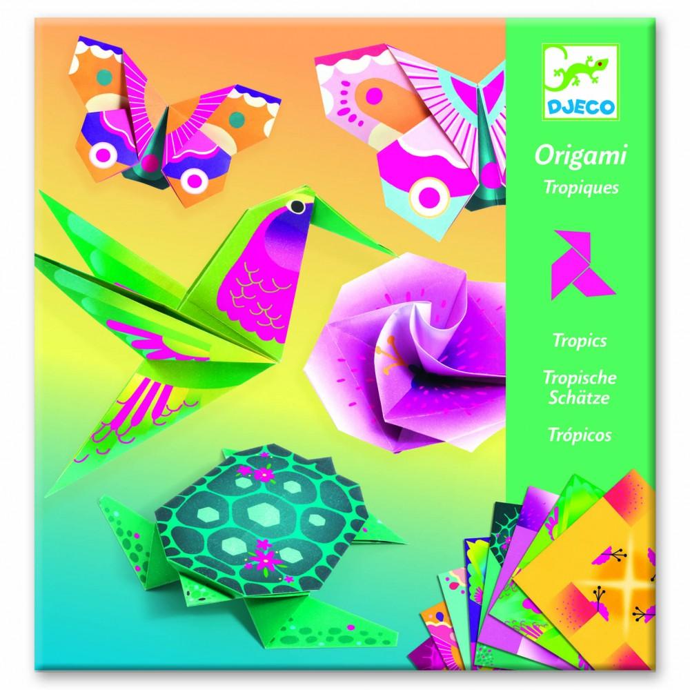 Origami animale si flori exotice Djeco