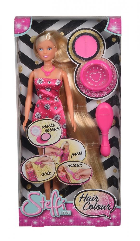 Papusa Steffi cu accesorii pentru colorat parul