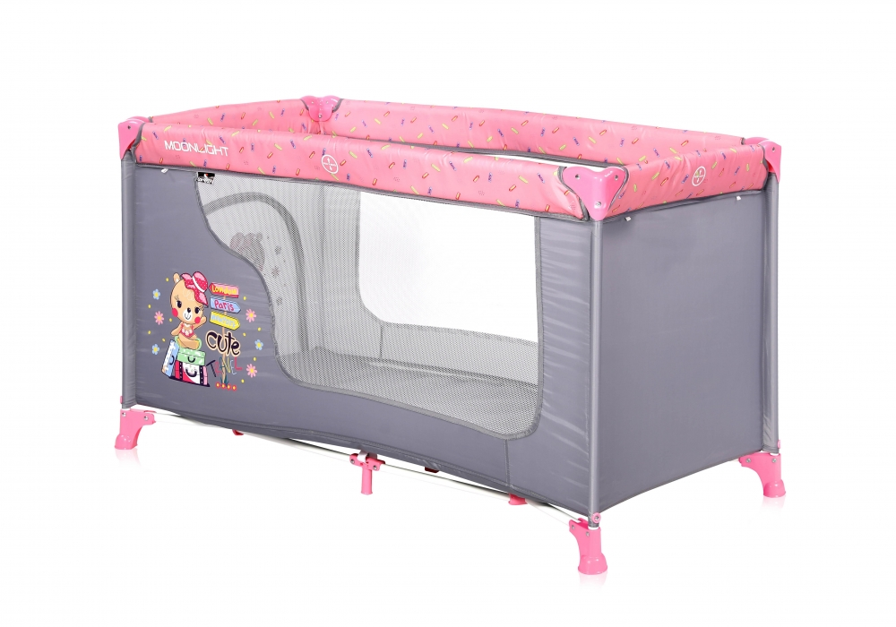 Patut pliabil Moonlight 1 nivel Pink Travelling