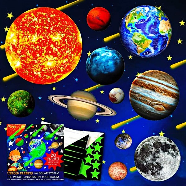Set planete fosforescente Untold Planets sistemul solar si stele 220 piese