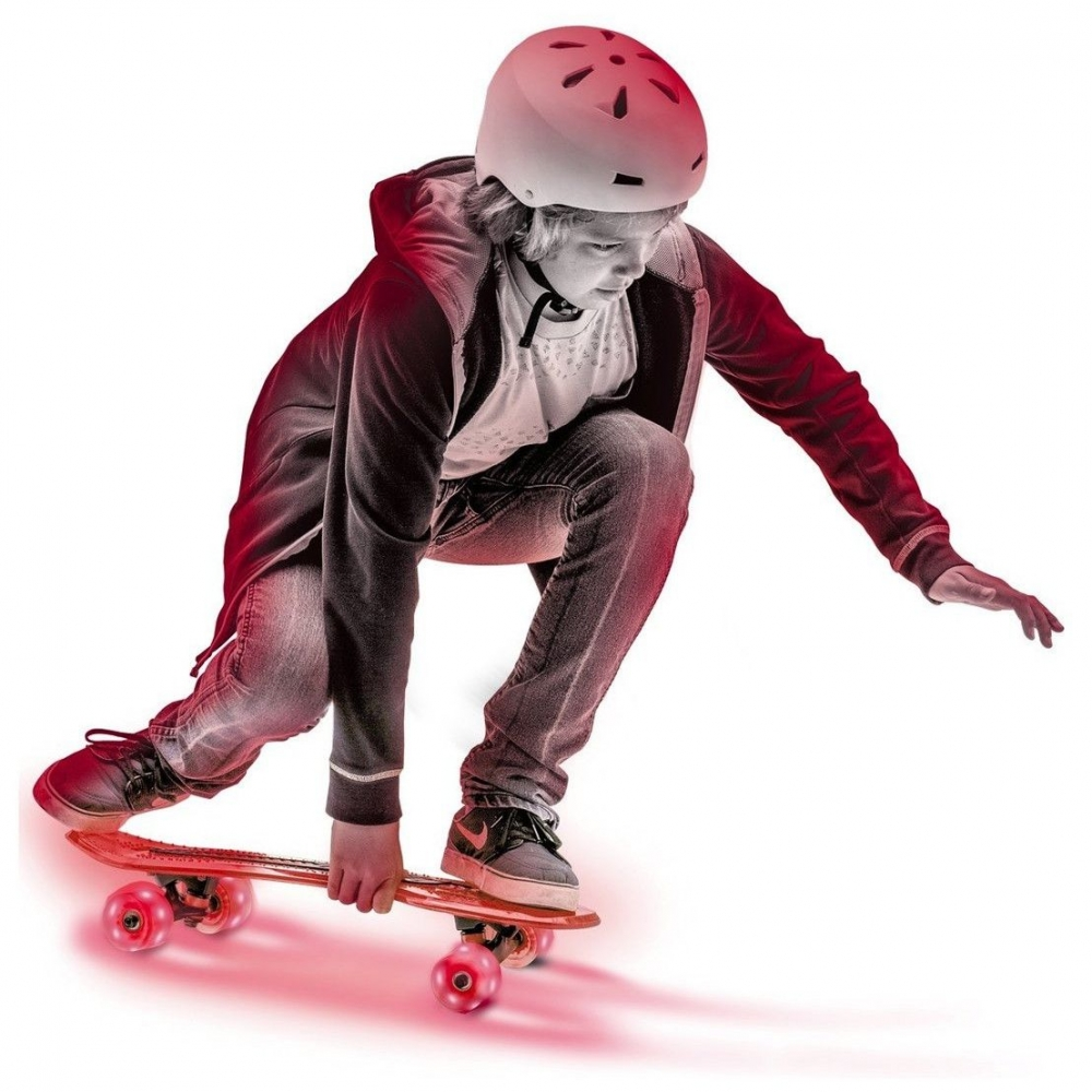 Skateboard Neon Cruzer Yvolution cu led Red imagine