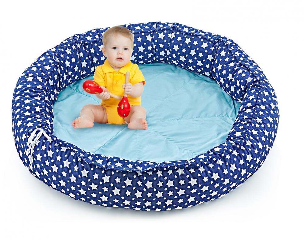 Spatiu de joaca BabyJem PlayNest Navy imagine