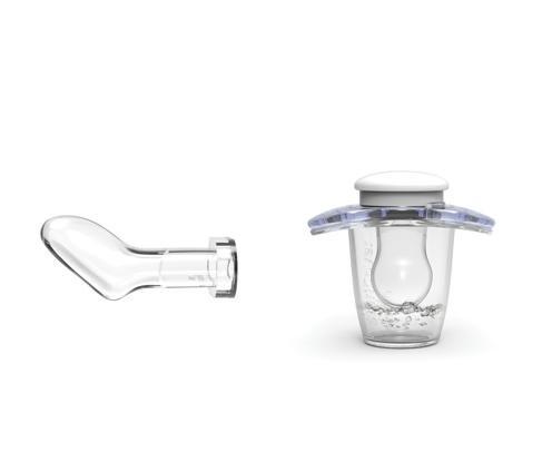 Suzeta ortodontica de noapte cu capac protector 0 luni+ Nuvita Air 55 Cool Glow Spiced Apple 7064