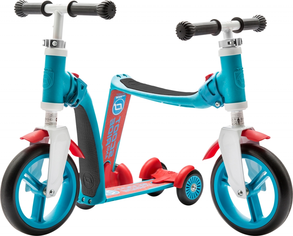 Trotineta copii transformabila 2 in 1 Scoot Ride Highwaybaby+ albastrurosu
