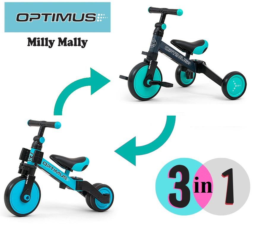 Tricicleta Transformabila 3 In 1 Optimus Red