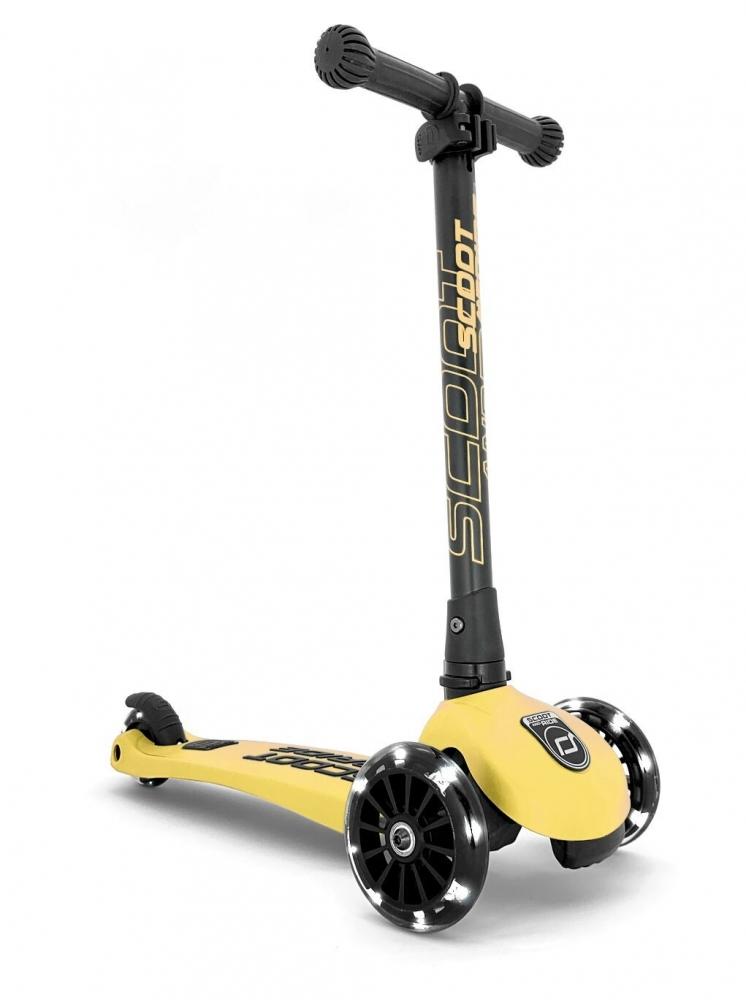 Scoot  Ride Trotineta copii pliabila cu roti luminoase Scoot  Ride HighwayKick 3 Lemon