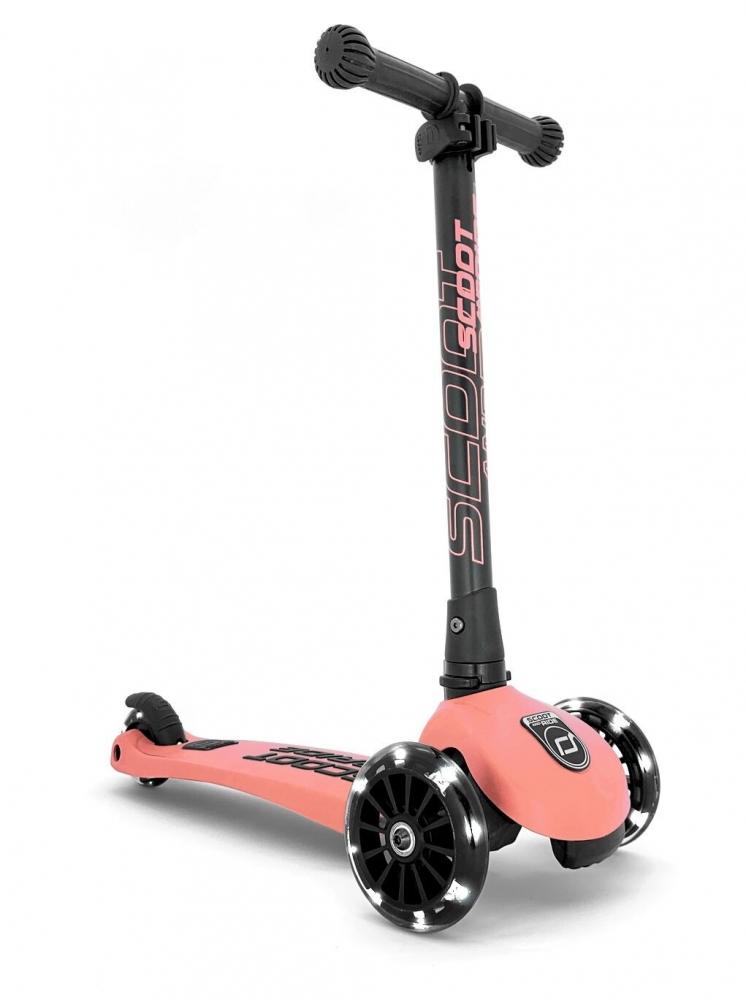 Scoot  Ride Trotineta copii pliabila cu roti luminoase Scoot  Ride HighwayKick 3 Peach