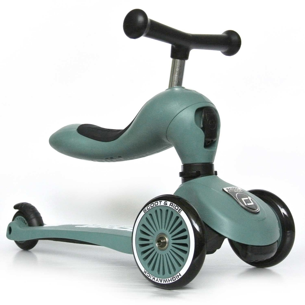 Trotineta copii transformabila 2 in 1 Scoot Ride HighwayKick 1 Forest