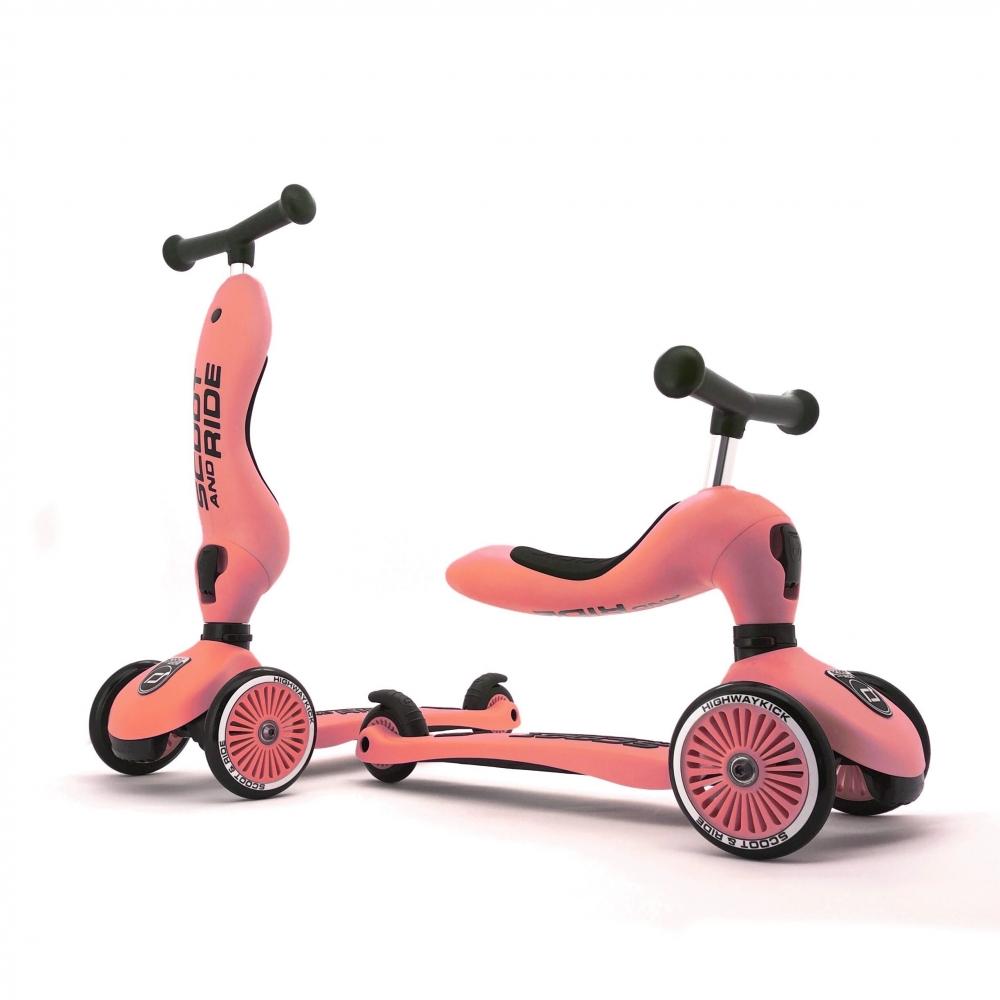 Trotineta copii transformabila 2in1 Scoot Ride HighwayKick 1 Peach