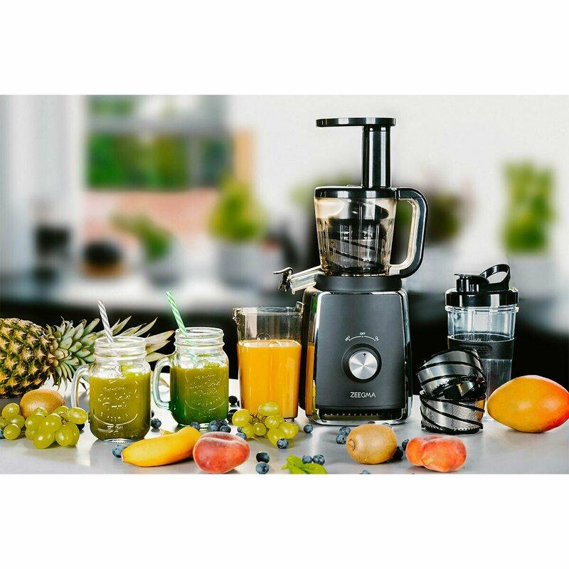 Storcator lent pentru fructe si legume 150 W Sap negru Zeegma imagine