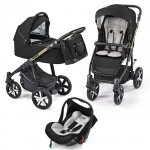 Carucior multifunctional 3 in 1 Baby Design Lupo Comfort Limited 12 Black 2019