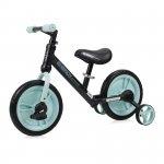 Bicicleta de tranzitie 2 in 1 Energy cu pedale si roti auxiliare Black & Green