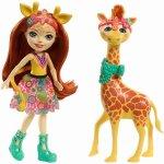 Papusa Enchantimals cu animalut girafa Gillian