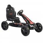 Kart cu pedale si roti din cauciuc EVA Monte Carlo Black