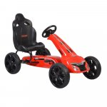 Kart cu pedale si roti din cauciuc EVA Olympus Red