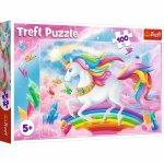 Puzzle Trefl Lumea de cristal a unicornilor 100 piese