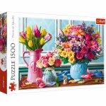 Puzzle Trefl Glastre cu flori 1500 piese