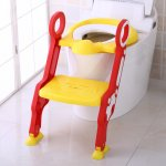 Reductor toaleta cu scara Stair Potty Red/Yellow