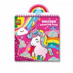 Carte de colorat unicorn + 40 abtibilduri SES Creative
