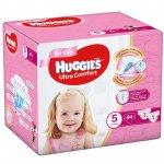 Scutece UC Box Huggies  5 Girl 12 -22 Kg 84 buc