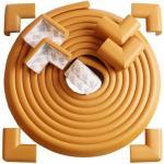 Set rola protectie multifuntionala xxl de 6m si 8 aparatori moi pentru colturi Bambinice maro deschis