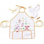 Set sortulet si protectii maneci Little Artist Orange