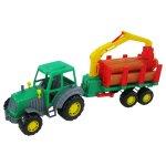 Tractor cu remorca + lemne Altay 61x17x25 cm Polesie