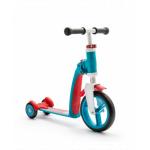 Trotineta copii transformabila 2 in 1 Scoot & Ride Highwaybaby+ albastru/rosu