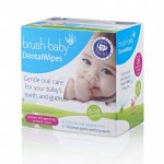 Servetele umede pentru igiena gingiilor 0-16 luni 28 buc Brush Baby