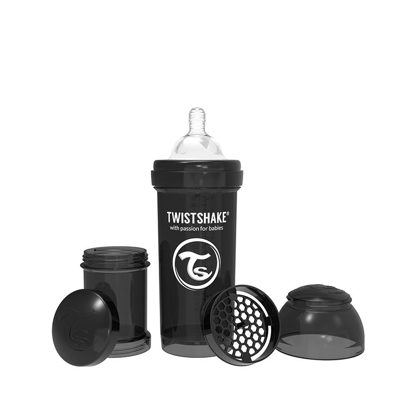 Biberon anti-colici 260 ml 2+ black Twistshake