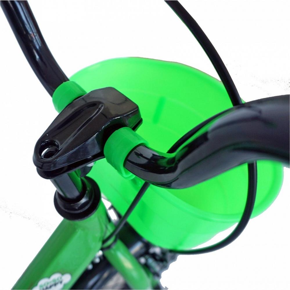 Bicicleta Carpat C1401C 14 V-Brake cosulet si roti ajutatoare 3-5 ani verdenegru